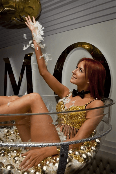 Girl in a Champagne Glass