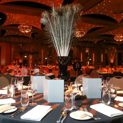University Ball - Centerpieces & Table styling