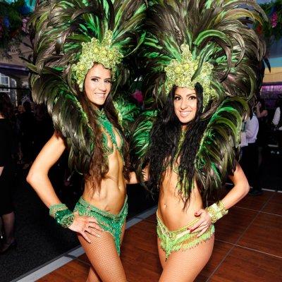 Rio Carnival brazilian theme event Samba dancer