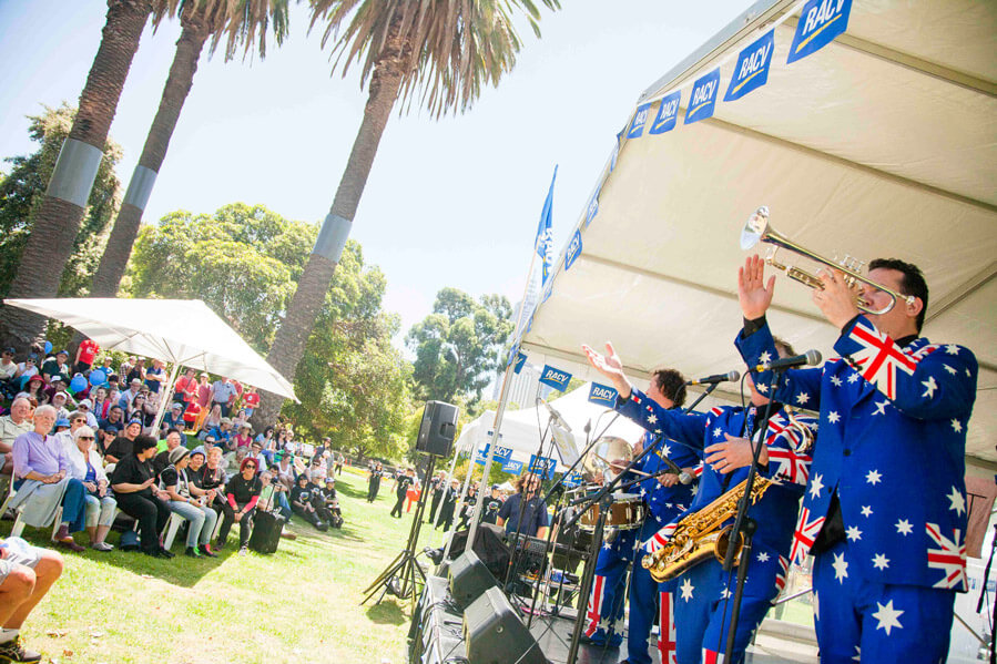 Ausie Flag Suit Band