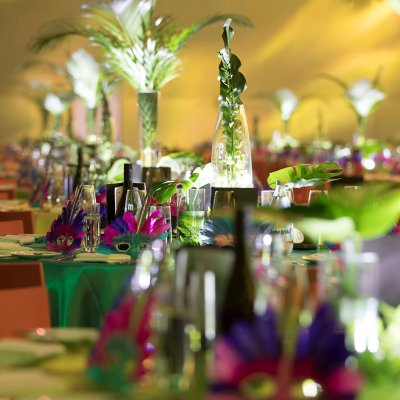 Rio Themed Corporate Event | Table Styling