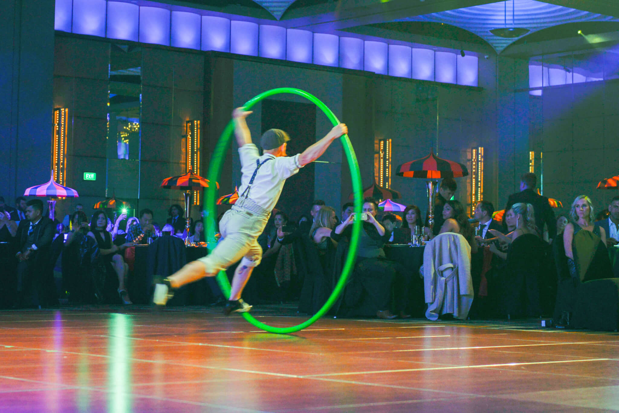 Cyr Wheel | Vintage Circus Event Theme