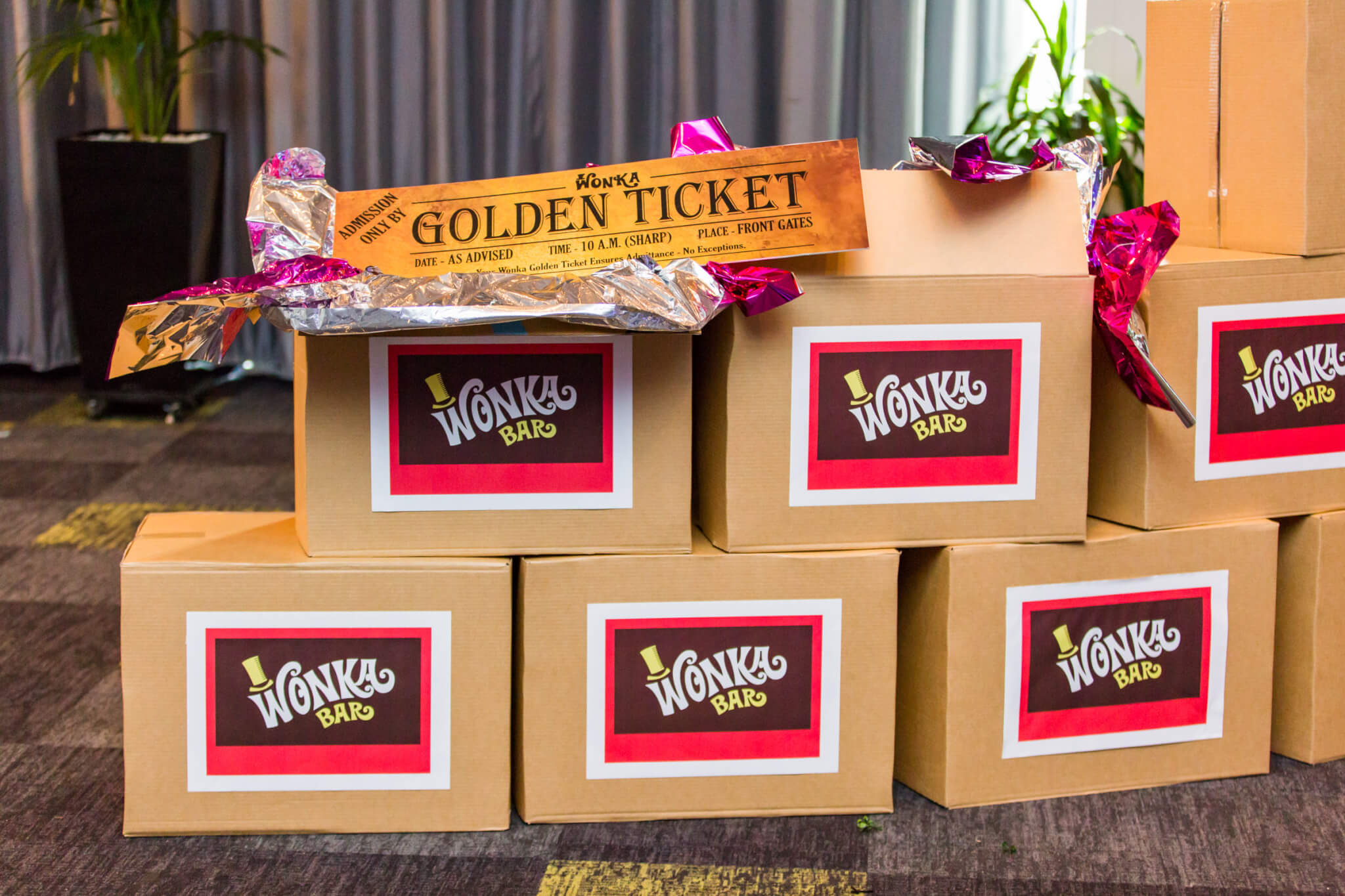 Willy Wonka Event Theme Styling