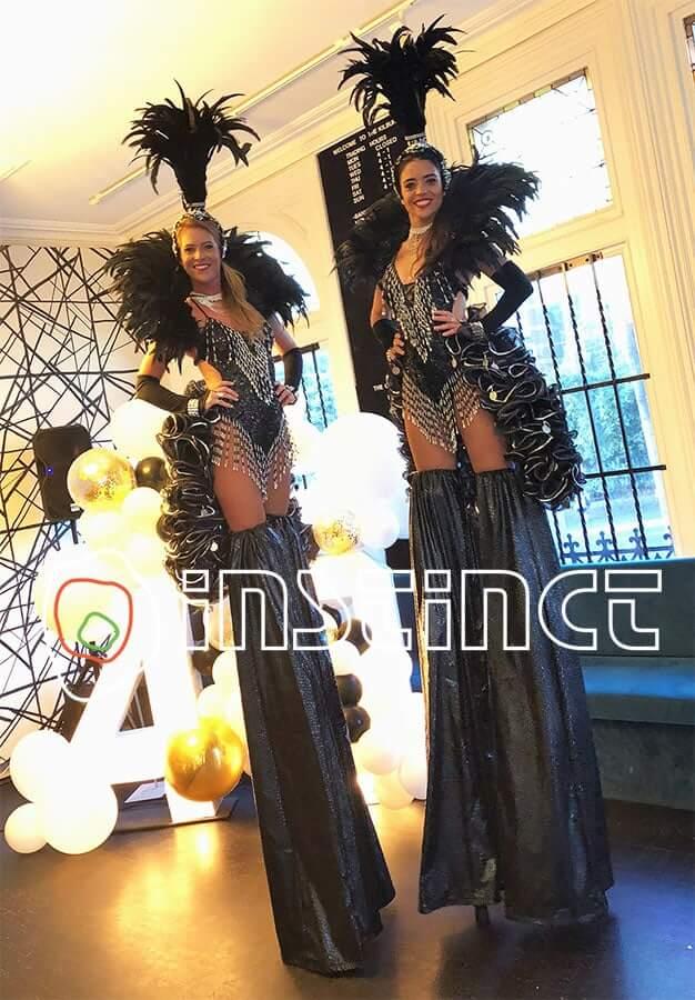 Black Showgirl Stilts